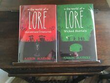 LORE: MONSTROUS CREATURES & WICKED MORTALS, Aaron Mehnke, SIGNED, 1st prints HC