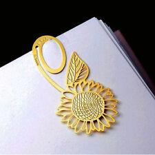 Sunflower Gold Metal Clip Bookmark Reading Magazine Paper School Label Book Mark