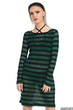 Jawbreaker Womens Forest Stripes Dress Jumper Dress Alternative Gothic