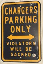 NEW NFL Los Angeles Chargers No Parking Sign - Man Cave Dorm Room - FREE Ship!