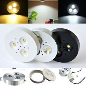 1/10/20pcs 3W LED Kitchen Under Cabinet Light Kit Puck Lamp Bulb AC85-265V HRM