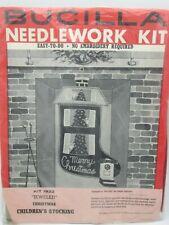 Bucilla Vintage 50s Felt Christmas Stocking Kit Children's Jeweled Sequin Tree