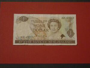 NEW ZEALAND 1981 1 DOLLAR CIRCULATED BANKNOTE P-169a