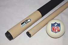 NEW NFL Seattle SEAHAWKS Football Billiard Pool Cue Stick & NFL Logo Cue Ball