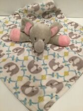 New listing Zooawa Elephant Gray Blue Pink Security Blanket Lovey