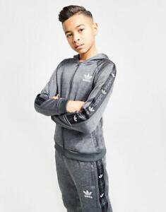 New adidas Originals Boys' Tape Poly Full Zip Hoodie from JD Outlet