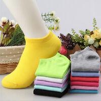 Fashion Unisex 10 Pairs Low Cut Boat Short Cotton Ankle Socks Women Men Sock