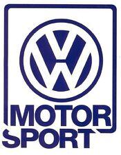Autocollant sticker 15 x 12 cms VOLKSWAGEN MOTORSPORT golf gti rallye Oettinger