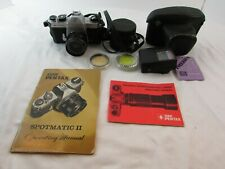 Asahi Pentax Spotmatic II Camera With SMC Takumar 1:3.5/35 Lens And Accessories