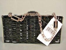 Judith Leiber Black Swarovski Crystals Rectangle Minaudiere Evening Bag $2995