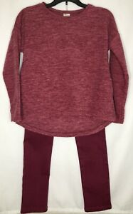 Girls 2 Piece Burgundy Outfit Size 7-8 By Crazy 8 New with tags