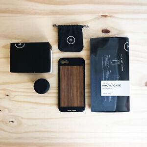 Moment 60mm v2 Lens w/ iPhone 7/8/SE (2020) Walnut Case