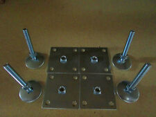 "3"" Leg Levelers Set of 4 Heavy Duty w/ Base Plate for Arcade Game Cabinets"