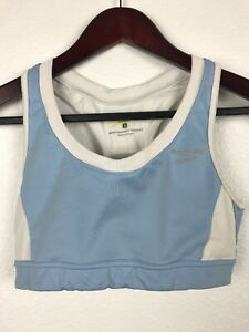 Brooks Equilibrium Womens Blue White Sports Bra Top Size S B19