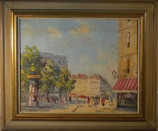 "Antique European Oil Painting Street Scene, Excellent Condition, Signed ""Degre""!"
