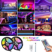 USB LED Strip Light 5050 RGB Colour Changing  Remote Lights Room TV Party Bar US