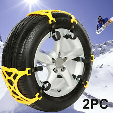 2PC Simple Truck Car Snow Chain Tire Chain Anti-skid Belt Easy Installation
