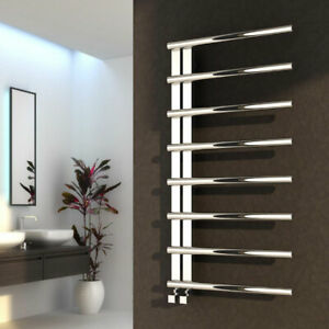 Reina Celico Designer Heated Towel Rail 1000mm x 500mm Polished Stainless Steel