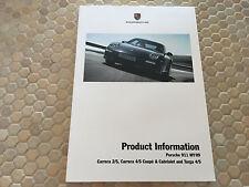 PORSCHE 911 997 SERIES II TECHNICAL PRODUCT INFORMATION MANUAL BROCHURE 2009 USA