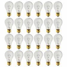 3000 Hour Incandescent E26 Bulb 24 Pack 40 Watt A19 Base 130 Volt Clear