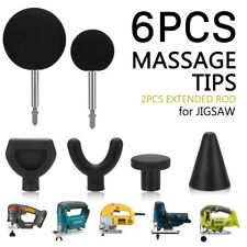 Percussion Massage Tip Bit For Jigsaw Massager Adapter Attachment 6pcs/Set Kit