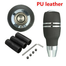 Universal Car Automatic Gear Stick Shift Knob Shifter Lever Cool Black Leather
