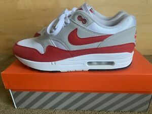 Nike Air Max 1 Anniversary OG Red White Grey Black Mens Size 8.5 908375-103