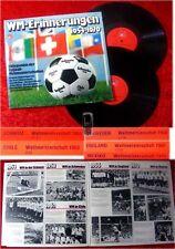 2LP WM Erinnerungen 1954 - 1970 Fußball WM Reportagen
