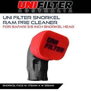 Uni Filter Pre Cleaner Snorkel Ram Head 3.5in 175 x 125mm Pre Oil Safari Cover