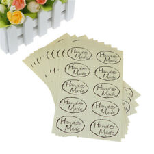 100pcs Leaf Hand Made Seal Stickers for Diy Gift Package Label Adhesive Stickers