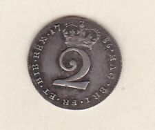 More details for 1786 george iii maundy silver two pence in near extremely fine condition.