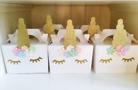 Unicorn party boxes bags favours children's party loot bags