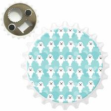 Smiling Happy White Seals Bottle Opener Fridge Magnet