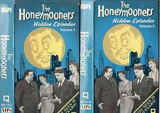 THE HONEYMOONERS - HIDDEN EPISODES - Vol. 1 & 2 - VHS -NTSC - NEW -Never Played!