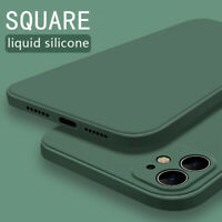 For iPhone 11 Pro Max XS XR X 8 7 6s Plus Square Lqiuid Silicone Soft Case Cover