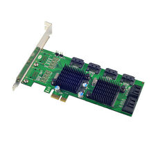 PCI-E to 8 Ports SATA 3.0 6Gb/s Expansion Card 88SE9215+9705 Chipset for Marvell