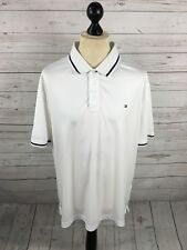 TOMMY HILFIGER Golf Polo Shirt - Size XXL - White - Great Condition - Men's