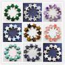 YHQ-46 Beautiful Carved mixed stone Star pendant bead 10PCS