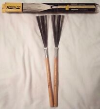 2 CALATO REGAL TIP DRUM BRUSHES Wire # 550W Wood Hickory Handle Wooden Stick NIB