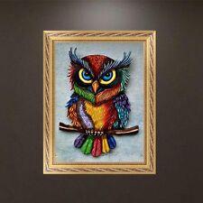 DIY 5D Diamond Embroidery Owl Animal Painting Cross Stitch Craft Decor
