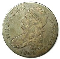 1808 Capped Bust Half Dollar 50C - Sharp VF Details - Rare Coin!