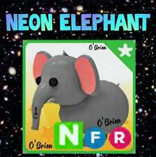 🐘 (NFR) NEON ELEPHANT 🐘 Fly Ride . Adopt me - Roblox. Safari egg pet