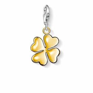 Thomas Sabo Lucky Four-Leaf Clover Gold-Plated Silver Charm 0912-413-12