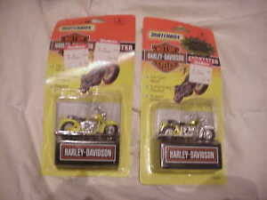 2 1993 matchbox toy harley davidson sportster motorcycle BOTH IN CASE NEVER OPEN