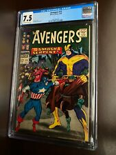 Avengers #33 (1966) / CGC 7.5 / Captain America and Hawkeye cover / Silver Age