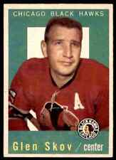1959-60 TOPPS GLEN SKOV (B) CHICAGO BLACKHAWKS #12 (01) JM