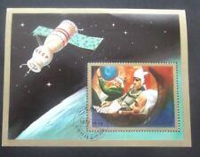 Umm Al Qiwain-1972-Soyuz Space Station Souvenir Minisheet-Used-Imperf