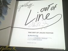 SIGNED BY 3 JULES FEIFFER OUT OF LINE FIRST ED FIRST PRINTING NEW HC