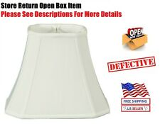Royal Designs Rectangle Cut Corner Lamp Shade White 6 x 8 x 9 x 14 x 10.5
