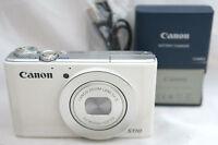 Canon Powershot S110 12.1MP compact digital camera 5x lens *white *superb